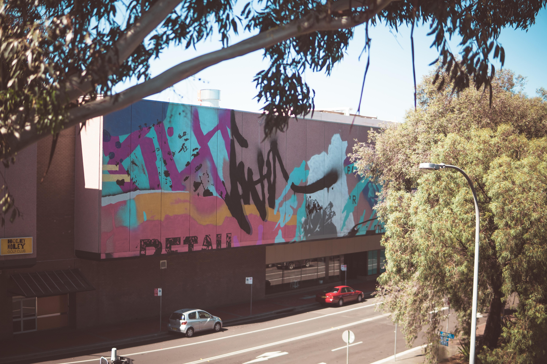 Wollongong Street art on a building