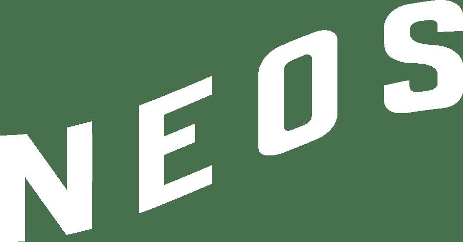 Neos logo word only white